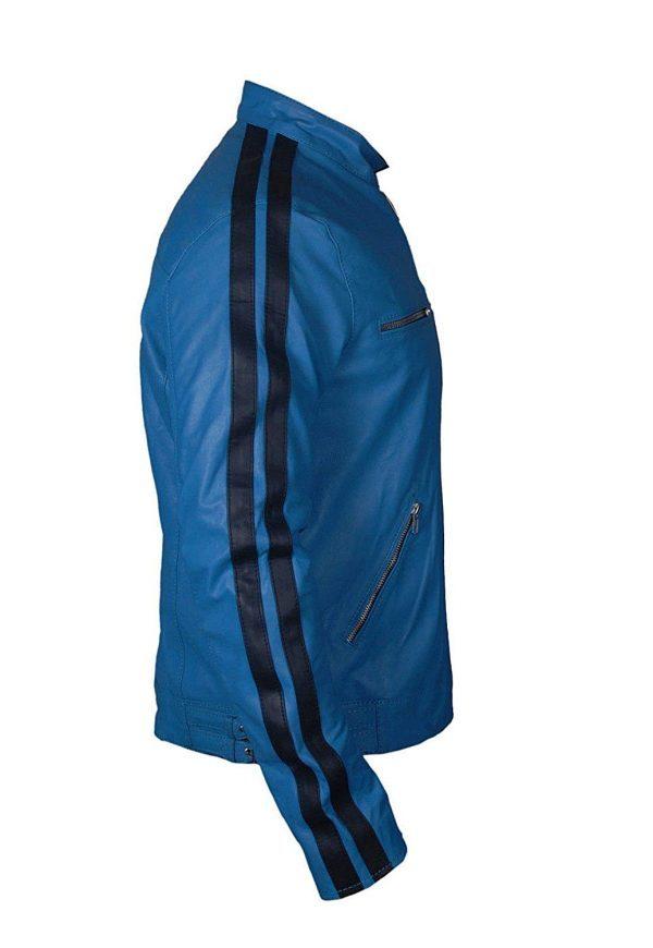 Dirk-Gentlys-Holistic-Detective-Samuel-Barnett-Blue-Leather-Jackit-600x870