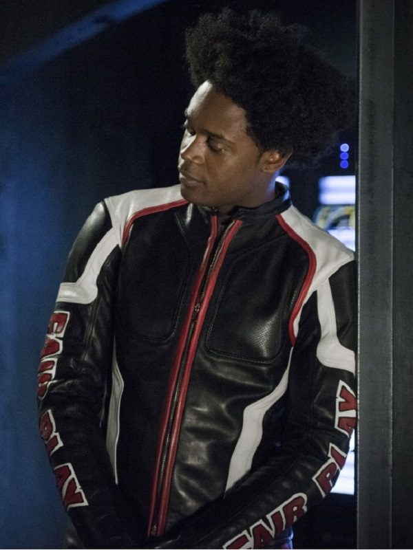 Echo Kellum Arrow Cosplay Leather Jacket side