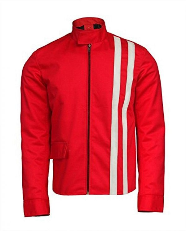 Elvis Presley Slimfit Speedway Red Cotton Jacket
