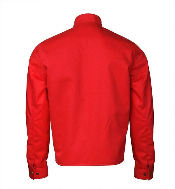 Elvis Presley Slimfit Speedway Red Cotton Jacket back side