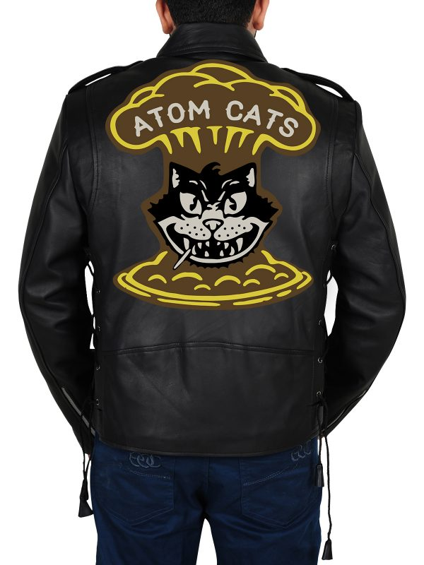 Fallout 4 Cosplay Atom Cats Leather Jacket back look