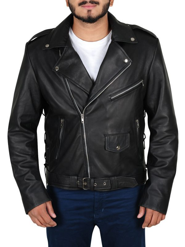 Fallout 4 Cosplay Atom Cats Leather Jacket front side
