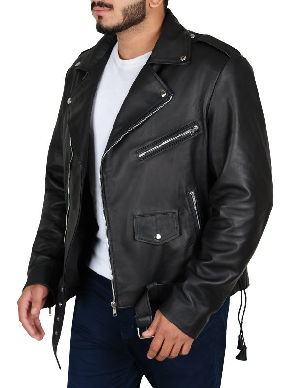 Fallout 4 Cosplay Atom Cats Leather Jacket side