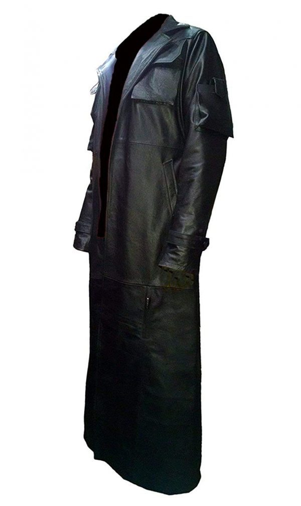 Frank Castle Jane The Punisher Leather Trench Coat side look