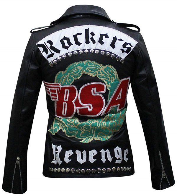 George Michael BSA Faith Rockers Revenge Faux Jacket back side
