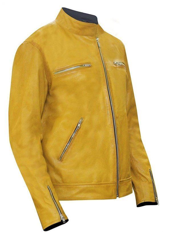 Get Gentlys Detective Barnett Yellow Leather Jacket