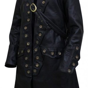 Get Pirates of The Caribbean 5 Will Turner Leather Trench Coat