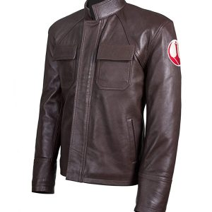 Get Poe Dameron Star Wars Genuine Brown Leather Jacket