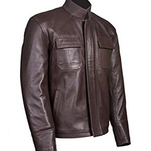 Get Poe Dameron Star Wars Genuine Brown Leather Jacket side