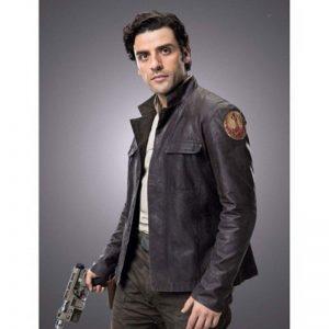 Get Star Wars Poe Dameron Leather Jacket front side