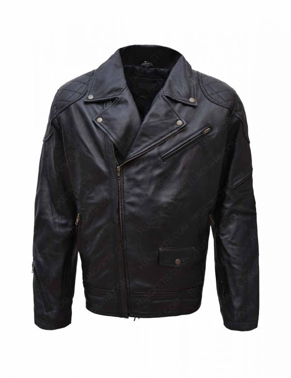 Get WWE Roddy Piper Leather Jacket front