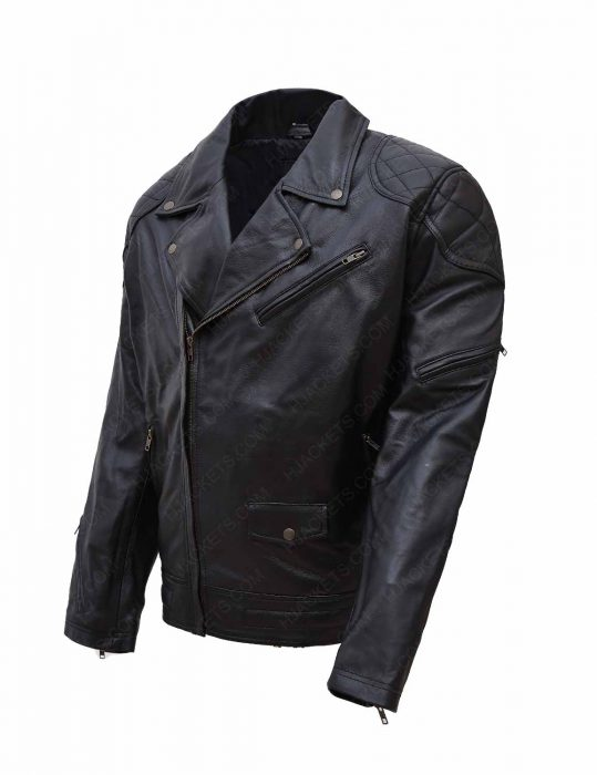 Get WWE Roddy Piper Leather Jacket side look
