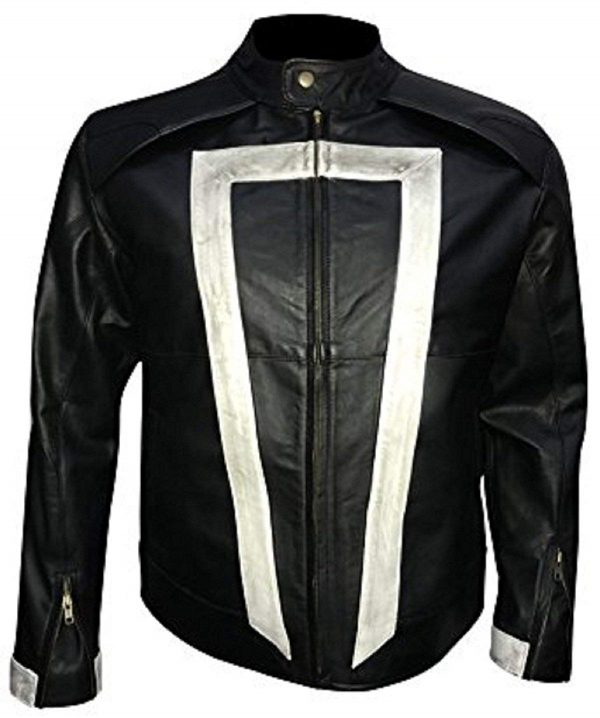 Ghost Rider Agents of Shield Robbie Reyes Biker Synthetic Leather Jacket