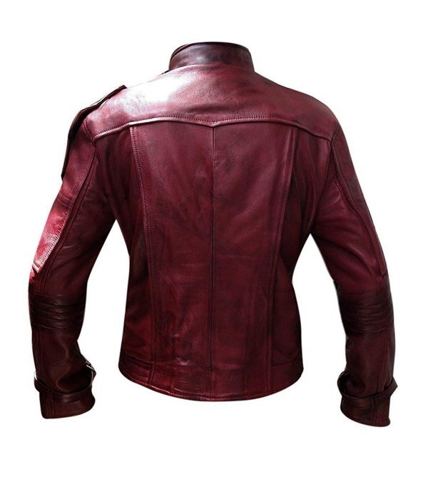 Guardian of Galaxy Star Lord Vol 2 Leather Jacket back side