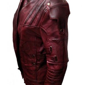 Guardian of Galaxy Star Lord Vol 2 Leather Jacket side look