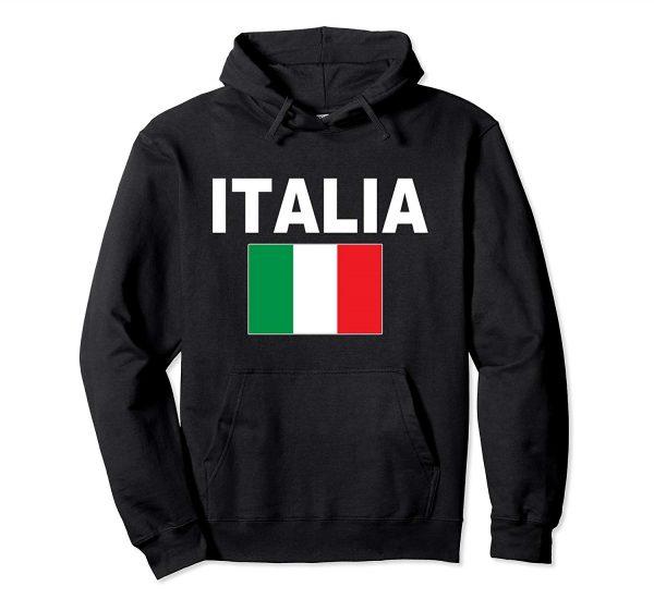 Italia Hoodie Flag Hooded Italian Jacket