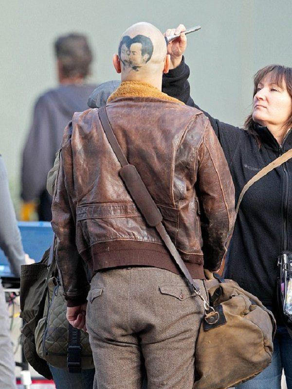 James Franco Zeroville Brown Bomber Leather Jacket back side