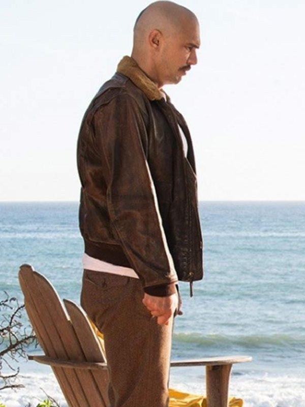 James Franco Zeroville Brown Bomber Leather Jacket side