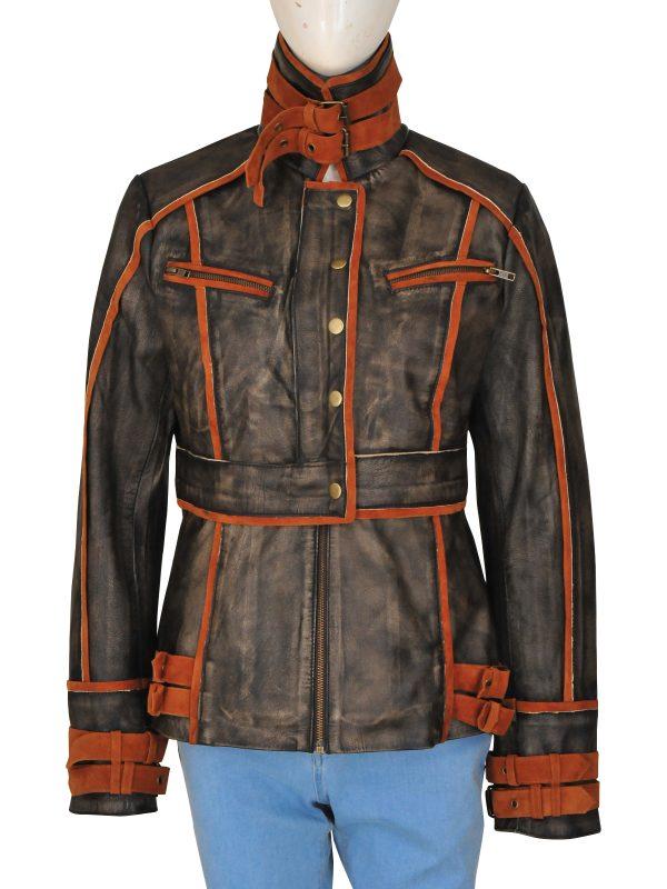 Jessica Biel Singer Total Recall Jacket