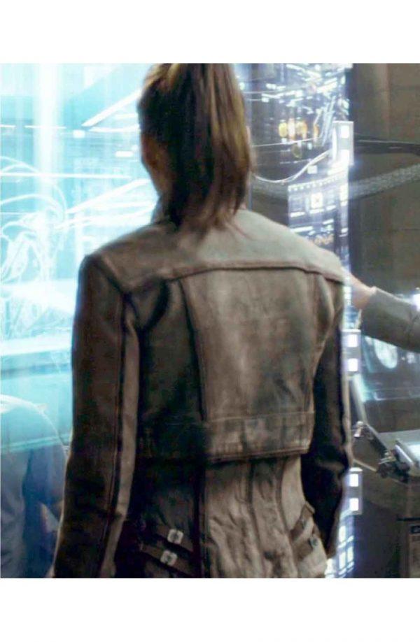 Jessica Biel Singer Total Recall Jacket back side