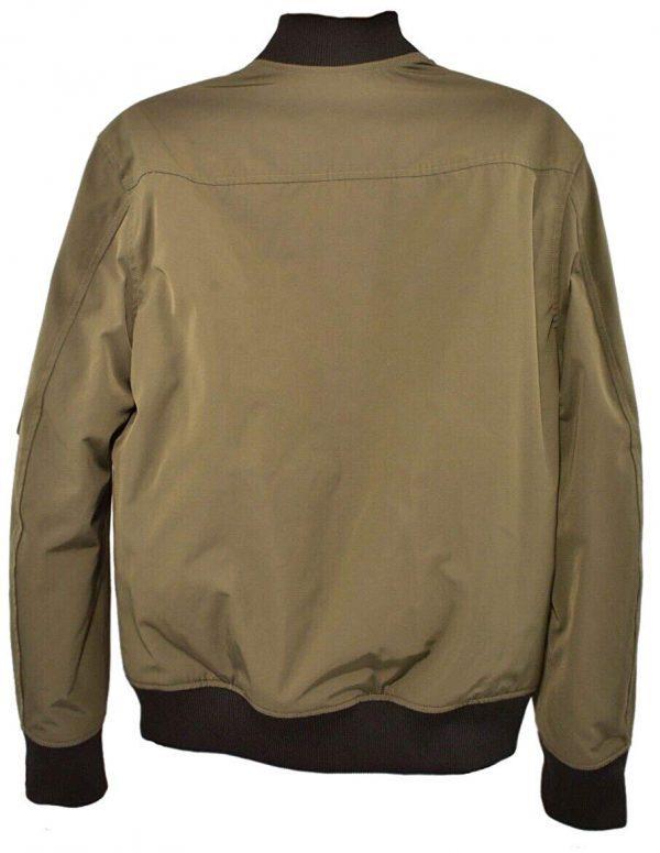 Jiarrino Samurai Khaki Men's Cotton Jacket back side