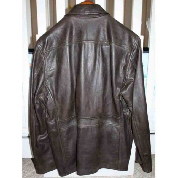 Leatherheads Dodge Connelly leather Jacket back side