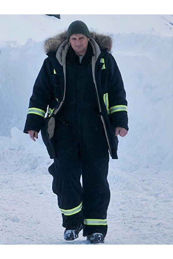 Liam John Neeson Cold Pursuit Parka Coat front