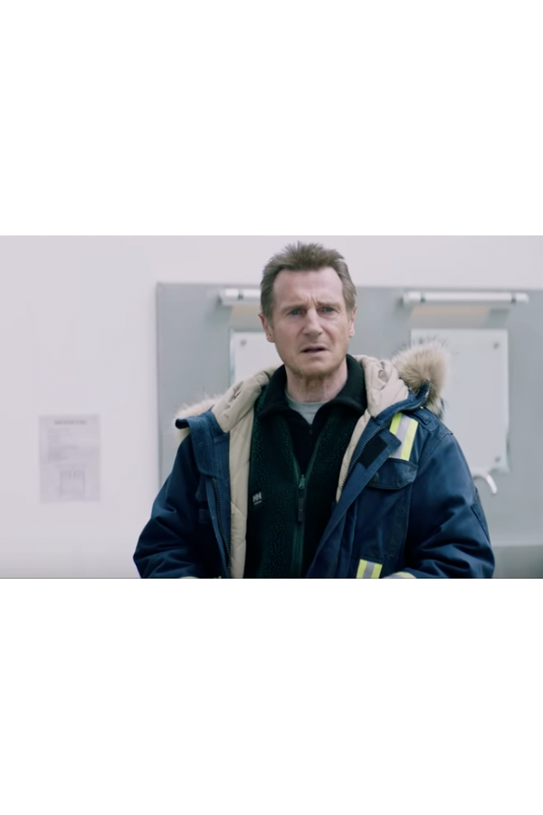 Liam John Neeson Cold Pursuit Parka Coat look