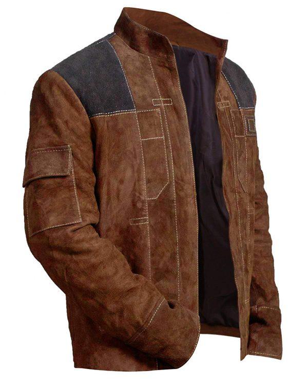 Men's Brown Slimfit Wars Suede Leather Jacket