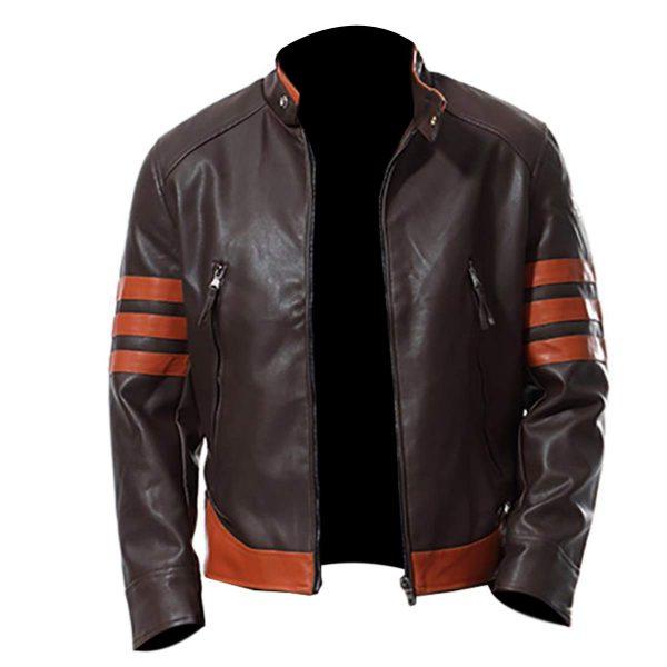 Men's Slim Fit Biker Real Leather Retro Jacket