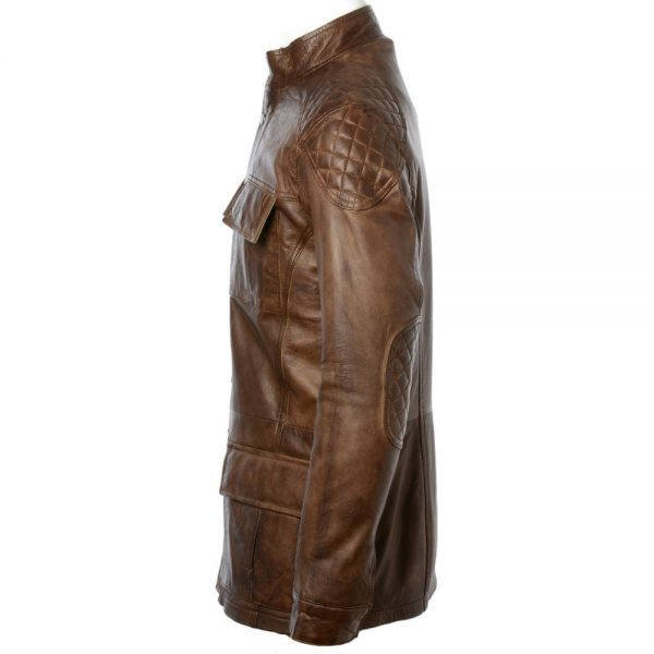 Mens Fashion Timber Leather Jacket look