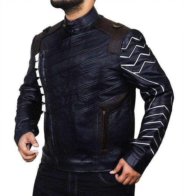 Mens-Infinity-Winter-Soldier-Bucky-Blue-Faux-War-Leather-Jacket