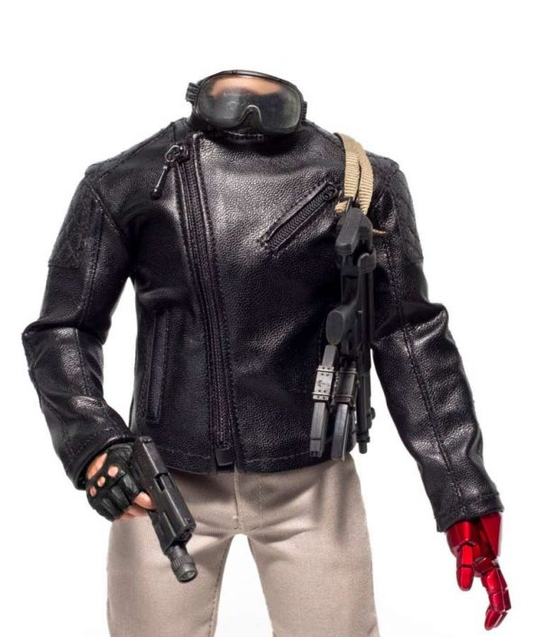 Metal Gear Solid 5 Leather Jacket front