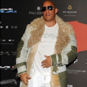 Movie xXx Premiere Vin Diesel Fur Coat