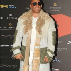 Movie xXx Premiere Vin Diesel Fur Coat front