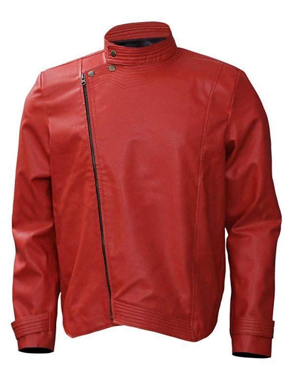 New Nakamura Shinsuke Red Wrestler Faux Leather Jacket