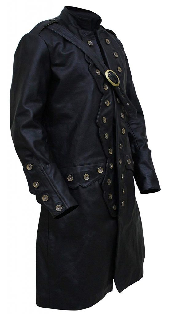 New Pirates of The Caribbean 5 Will Turner Leather Trench Coat