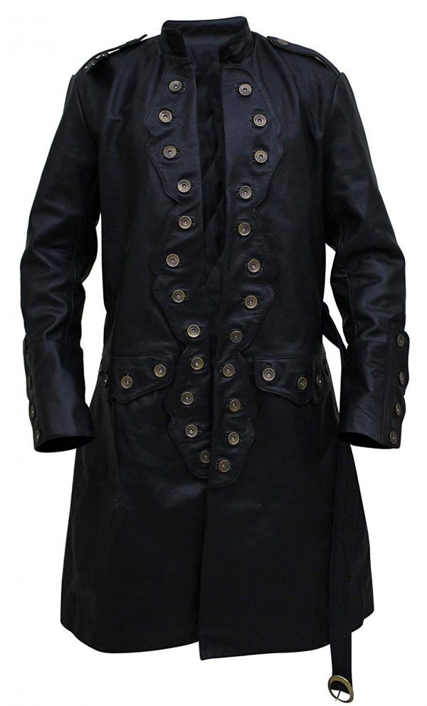 Pirates of The Caribbean 5 Will Turner Leather Trench Coat