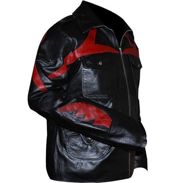 Prototype James Heller Alex Mercer Black Genuine Leather Jacket side look