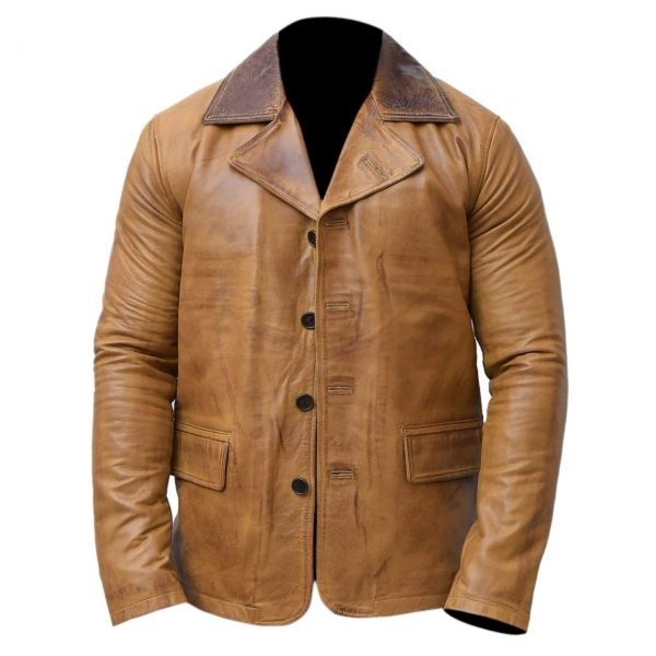 Red Dead Redemption II Arthur Morgan Brown Collar Leather Jacket