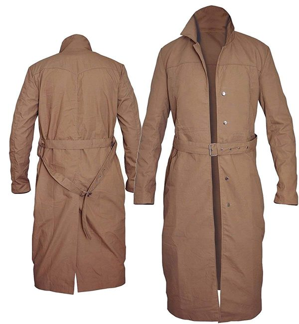 Rip Hunter Legends of Tomorrow Arthur Darvill Cotton Coat back and front
