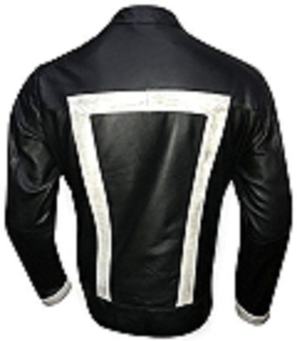 Robbie Reyes Ghost Rider Agents of Shield Synthetic Leather Jacket Back Side
