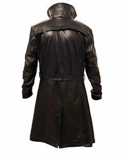 Ryan Gosling Blade Runner 2049 (Officer K) Fur Lapel Collar Trench Leather Coat back side