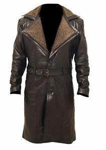 Ryan Gosling Blade Runner 2049 (Officer K) Fur Lapel Collar Trench Leather Coat