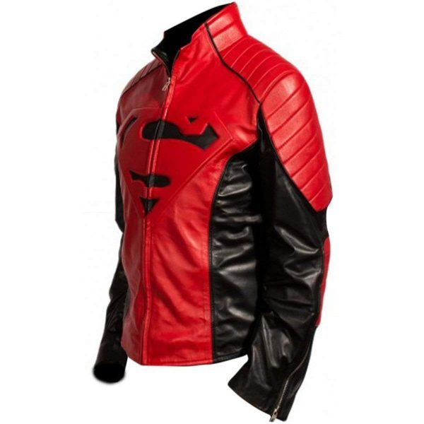 Smallvile Superman Tom Welling Bomber Leather Jacket side look