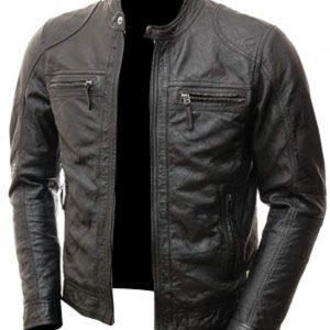 The Café Racer Slimfit Hi-Quality Black Geniune Leather Jacket