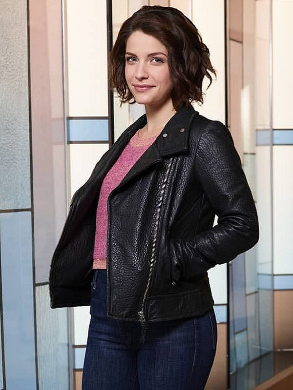 The Good Doctor Paige Spara Leather Jacket look