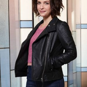 The Good Doctor Paige Spara Leather Jacket side