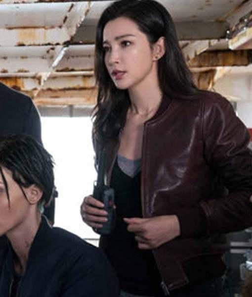 The Meg Li Bingbing Bomber Leather Jacket look
