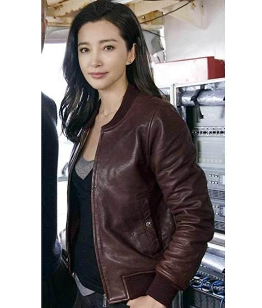 The Meg Li Bingbing Bomber Leather Jacket side